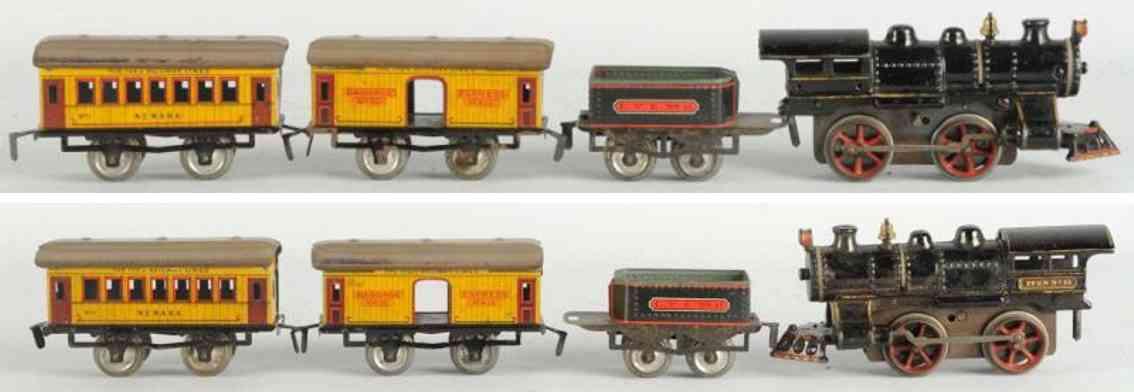 ives lokmotive 11 gepaeckwagen 50 personenwagen 51 personenzug spur 0