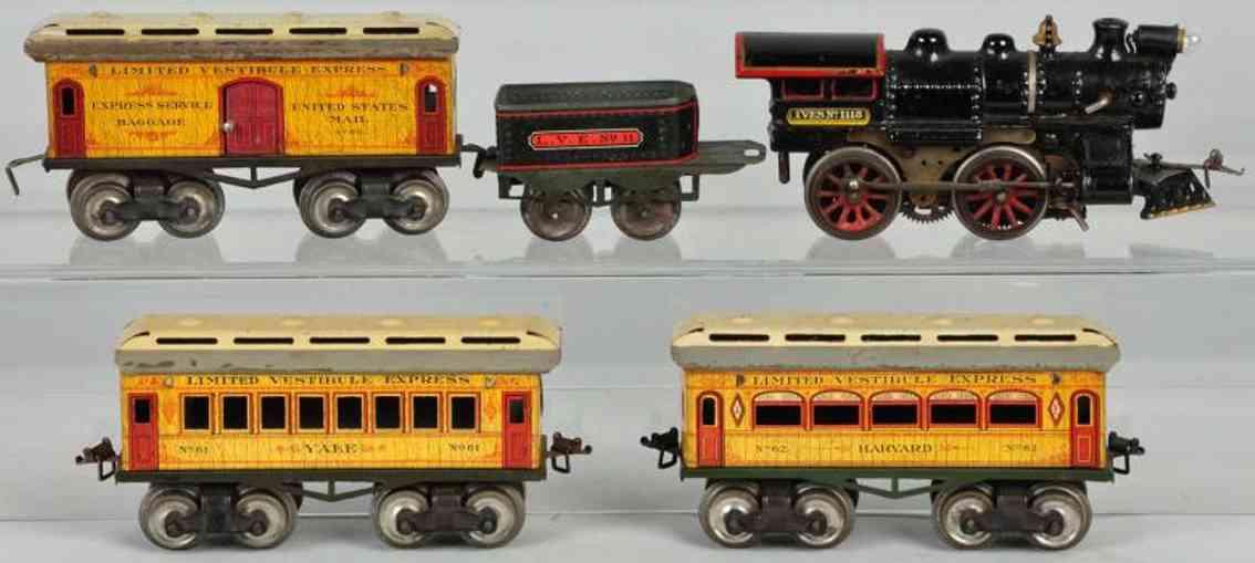 Ives 1118 Züge Harvard und Yale Personenzug LVE 11 60 62 64