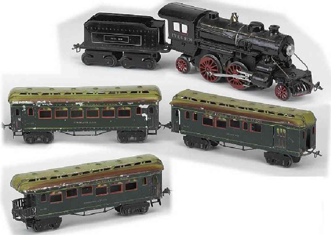 ives personenzug 1140 zweite serie lok 112 tender 40 wagen 181 182 183 spur 1