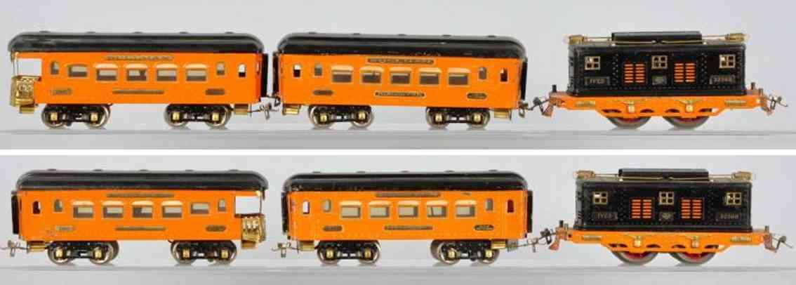 ives 1010/1010r 3236r 185 186 eisenbahn personzug the tiger orange schwarz wide gauge