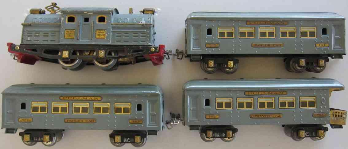 ives 507r 3257r 141 142 spielzeug eisenbahn personenzug gray ghost spur 0