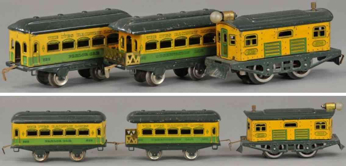 ives 570 552 558 railway toy train passenger set yankee clipper gauge 0