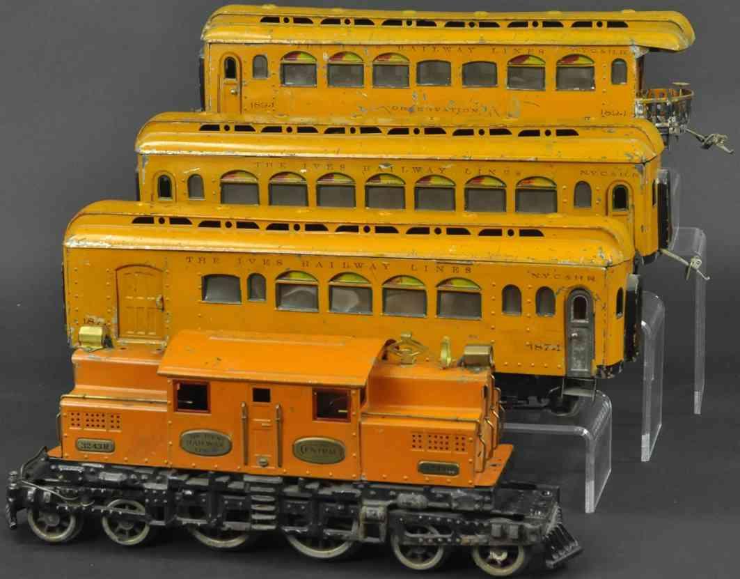 ives 704R eisenbahn personenzug 187 188 189 wagen wide gauge