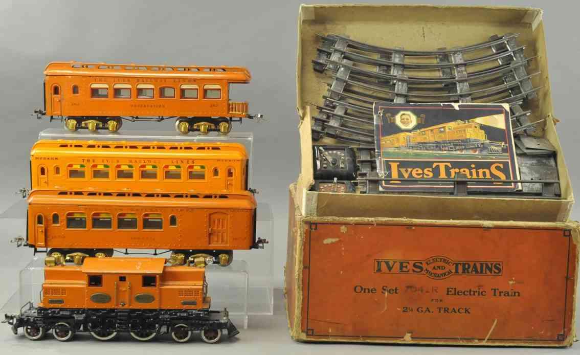 ives 704r 3243 182 187 188 spielzeug eisenbahn personzug set orange wide gauge