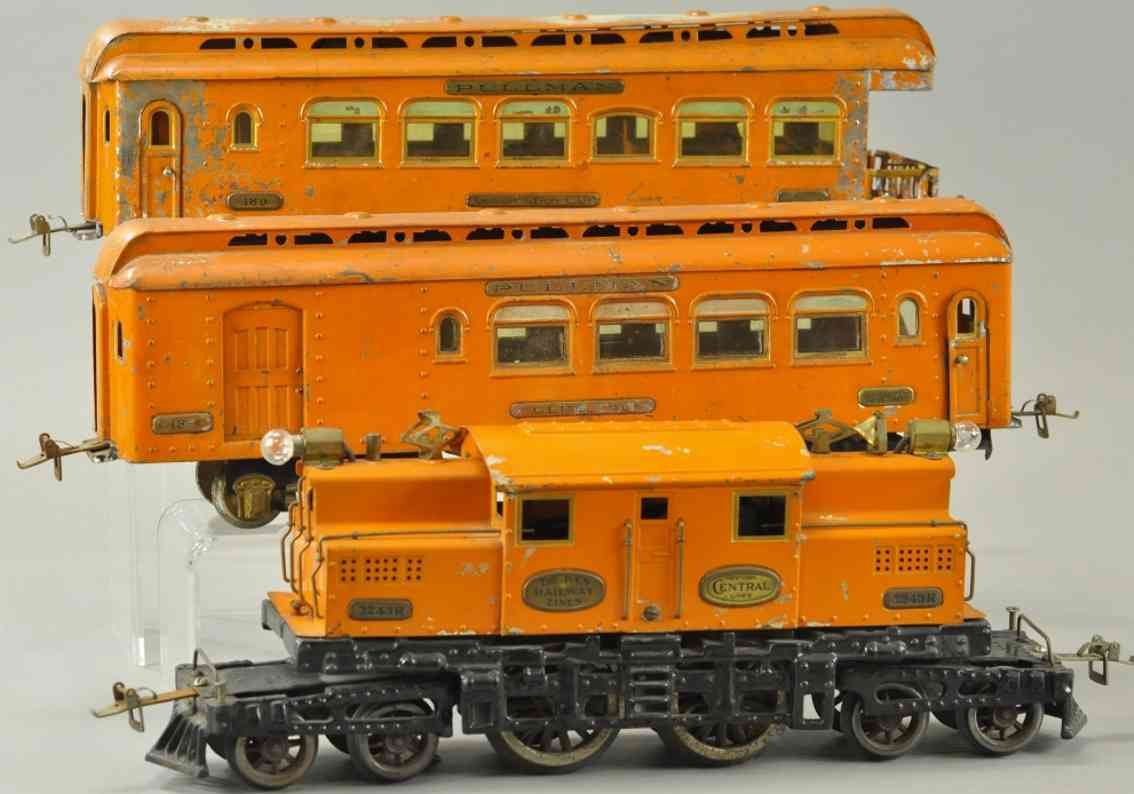 ives 706/706r 3243r 187 189 spielzeug banker spezial-personenzug orange standard gauge