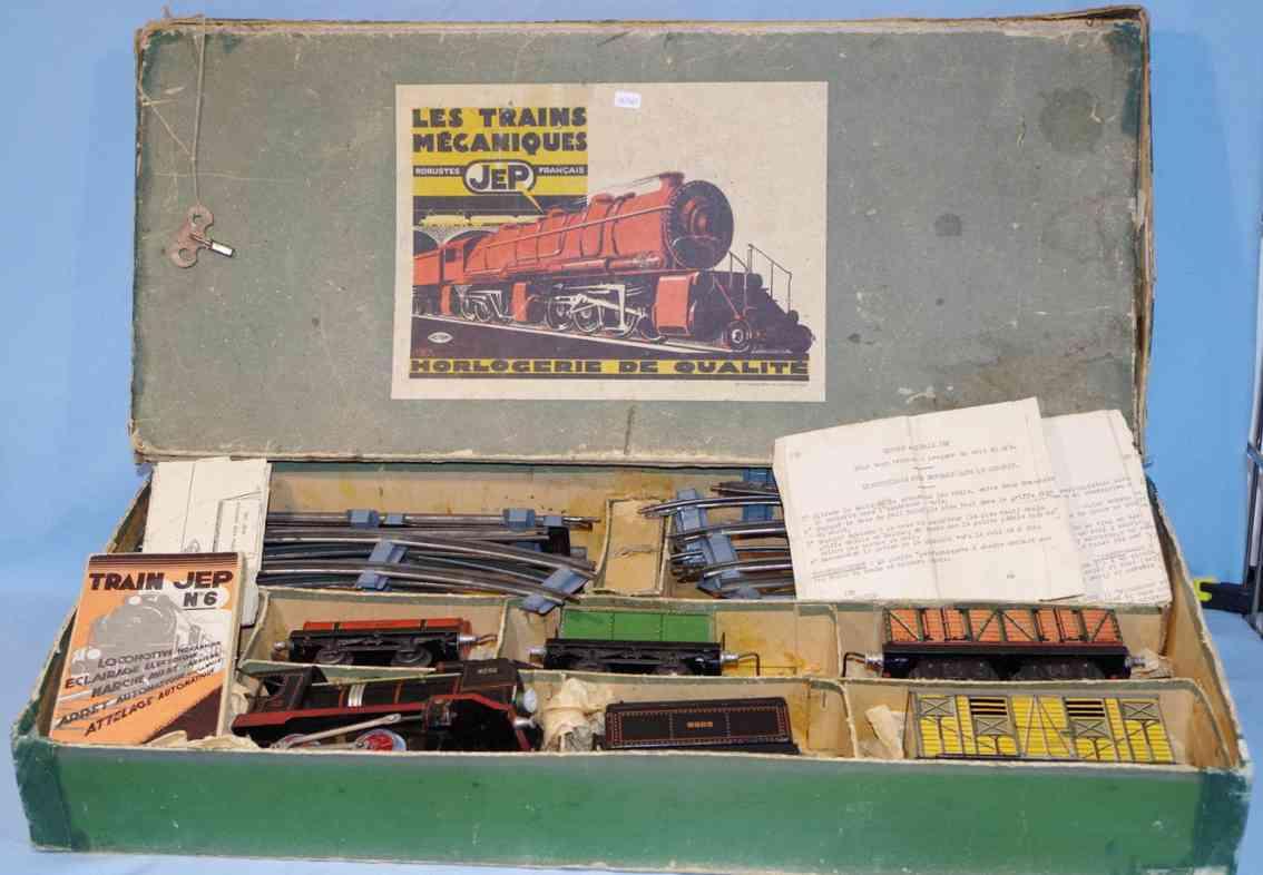 jep spielzeug eisenbahn zugpackung uhrwerk-lokomotive vier wagen