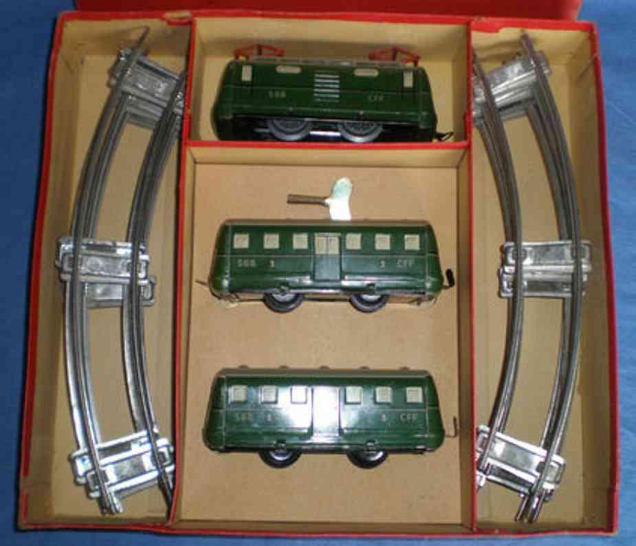 keim spielzeug eisenbahn triebwagenzug  elektrolokomotive spur 0