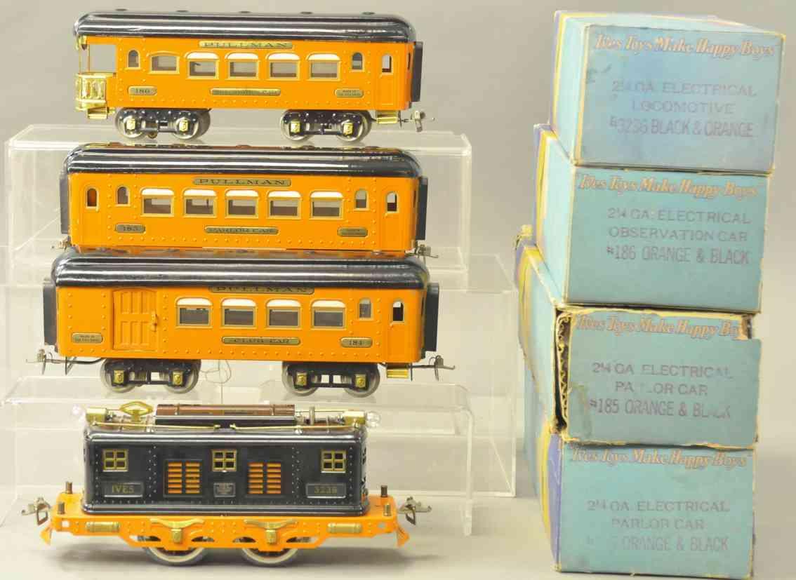 lionel 1082 184 185 186 personenzug tiger set orange schwarz wide gauge