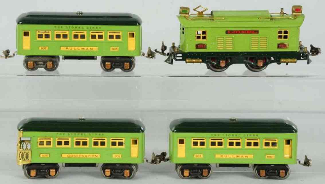 lionel 133 spielzeug eisenbahn personenzug 253e 607 608
