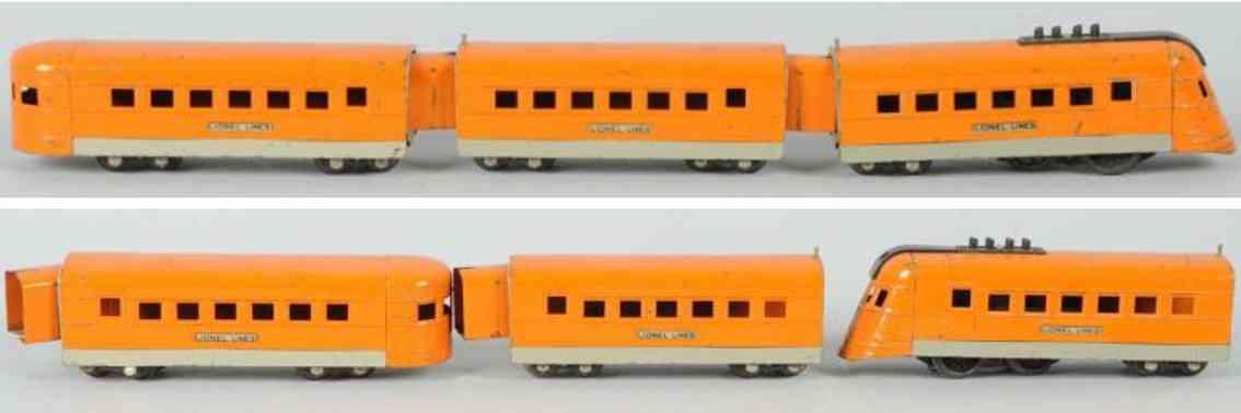 lionel 1700e 1701 1702 tromlinienfoermig junior zugset orange spur 0