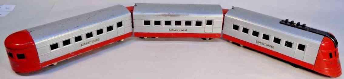 lionel 1700e 1701 1702 junior personenzug silber rot spur 0