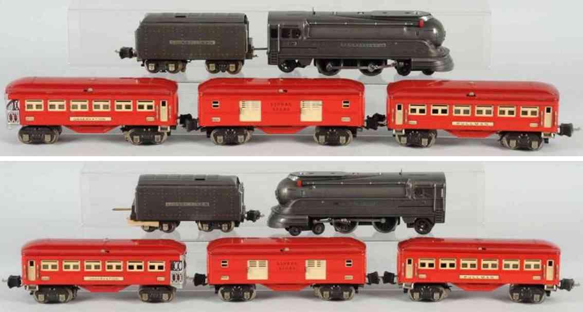 lionel 186w spielzeug eisenbahn personenzug 238e 2265w 2600 2601 2602