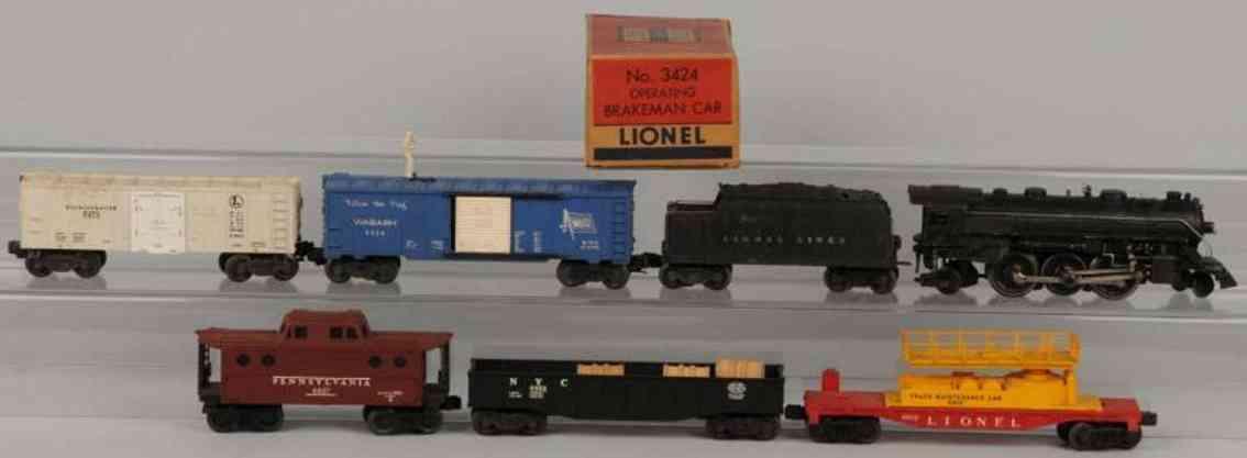 Lionel 224 Güterzug 6812 6472 6462 3424 6437
