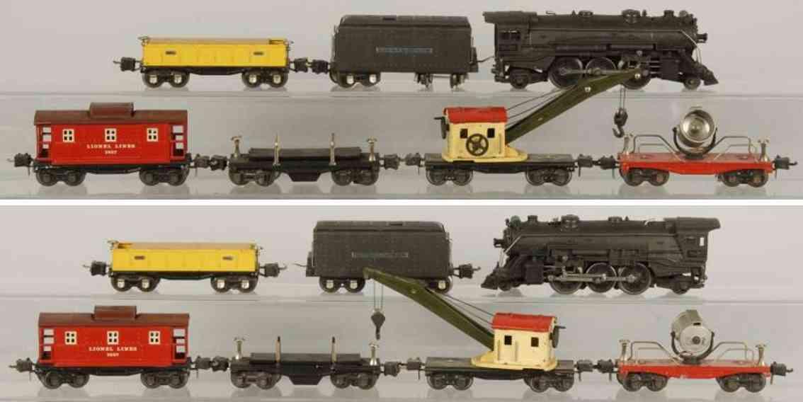 Lionel 225 E Güterzug 2225W 2660 2657 3651 2620 2652