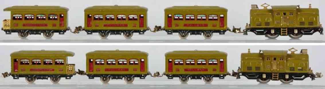 lionel 252 personenzug weissblech wagen 529 530 spur 0