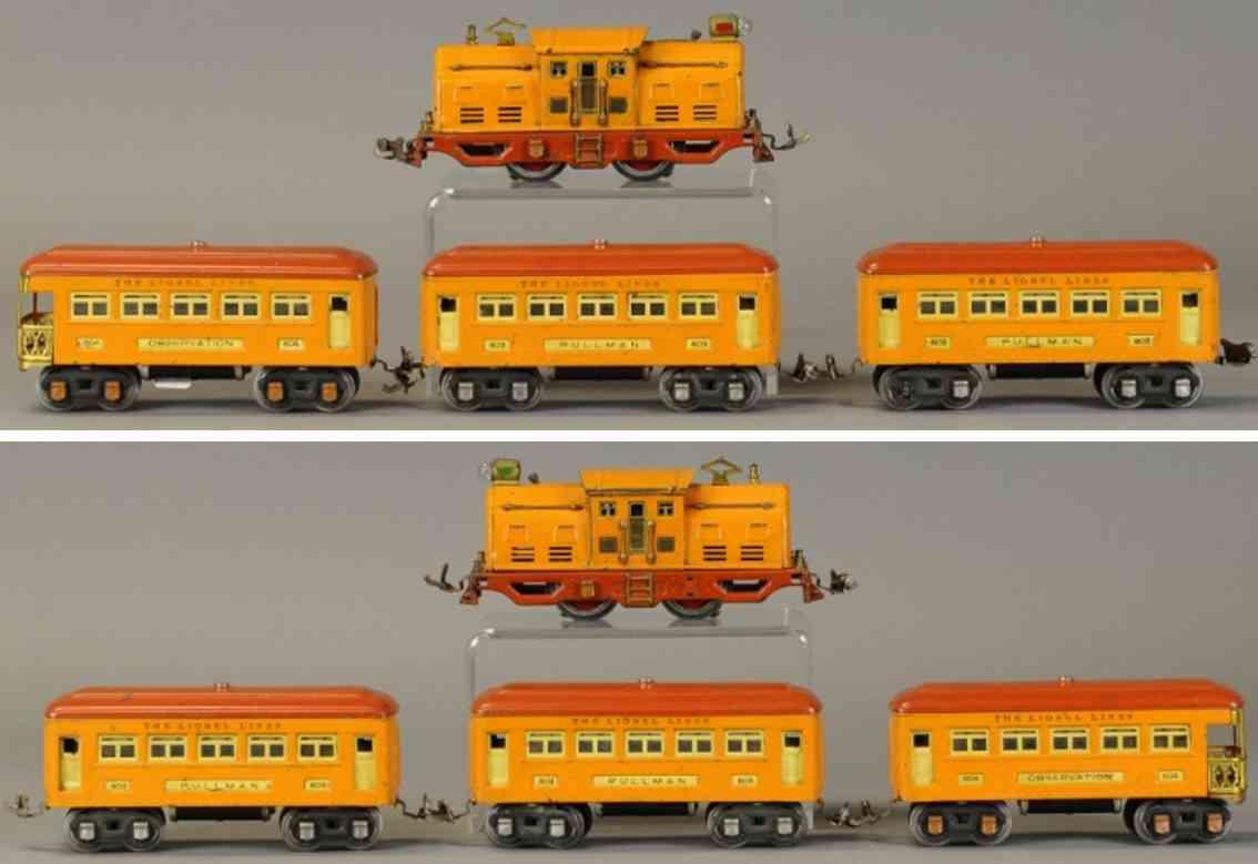 lionel 252 603 604 spielzeug eisenbahn zug personenzug orange spur 0