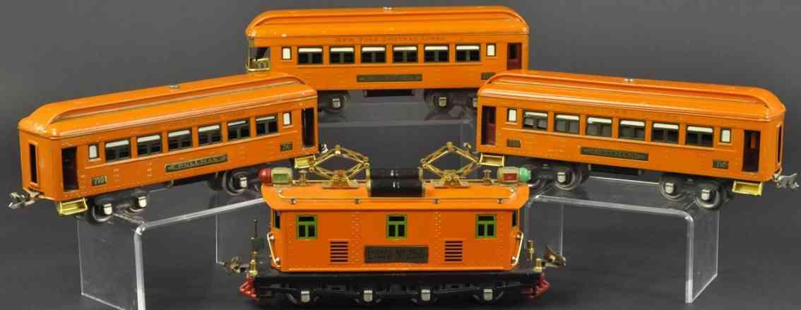 lionel 256 710 712 spielzeug eisenbahn personenzug orange spur 0