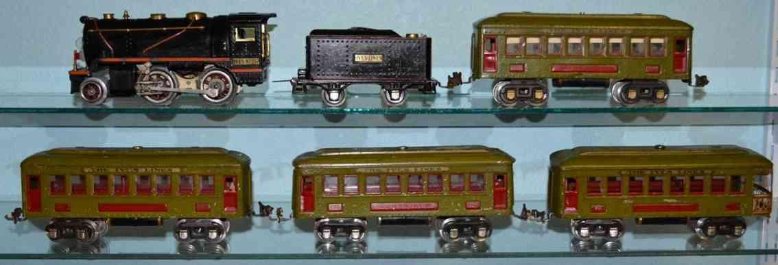 Linoel/Ives tranisition train set locomotive 257 passenger car 610 612