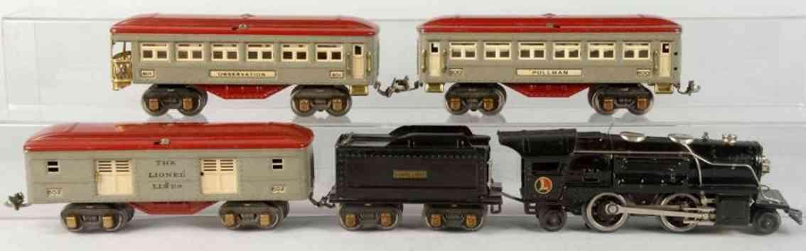 lionel 259 600 601 602 spielzeug eisenbahn personenzug spur 0