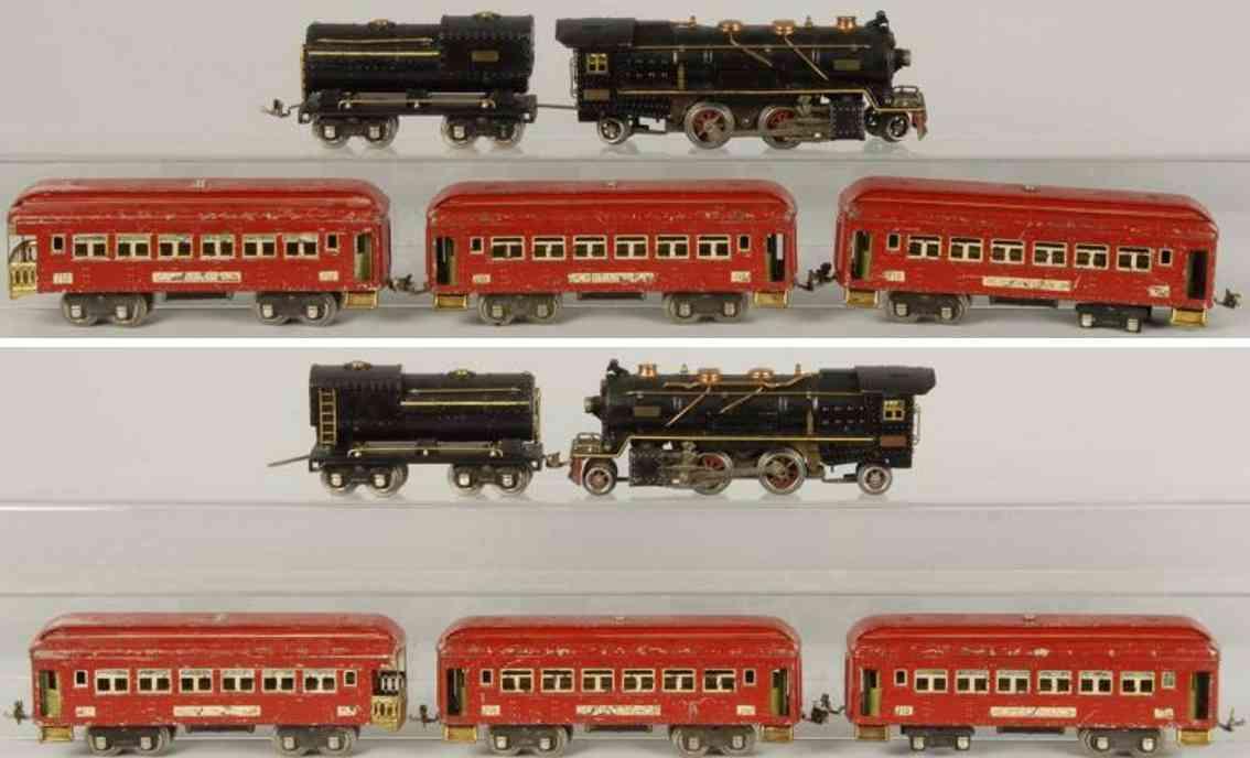 lionel 260e 700 710 712 personenzug spur 0