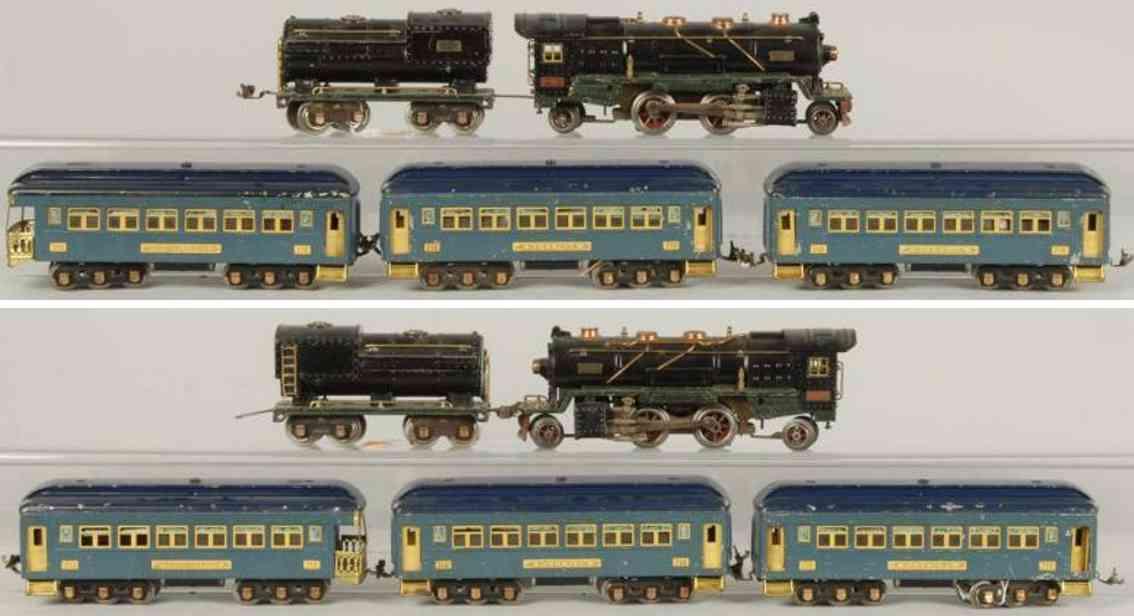 lionel personenzug 260e tender 260t wagem 710 712 spur 0
