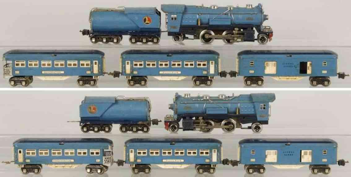 lionel 263e personenzug blue comet 263w 313 314 315 spur 0