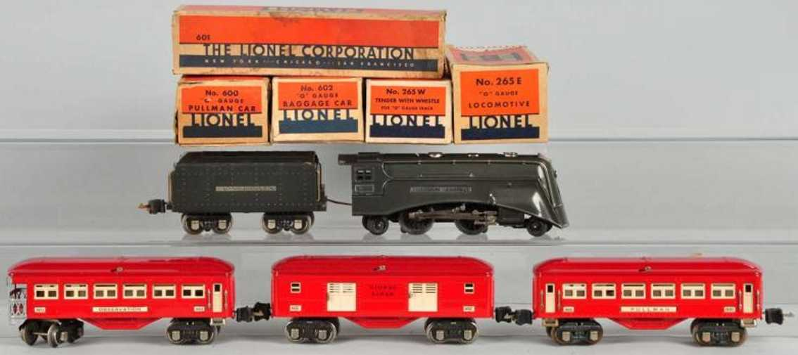 Lionel 265E 265W 601 602 Personenzug