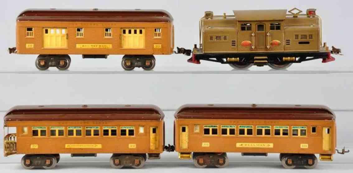lionel 342e personenzug lokomotive 318e wagen 309 310 312 standard gauge