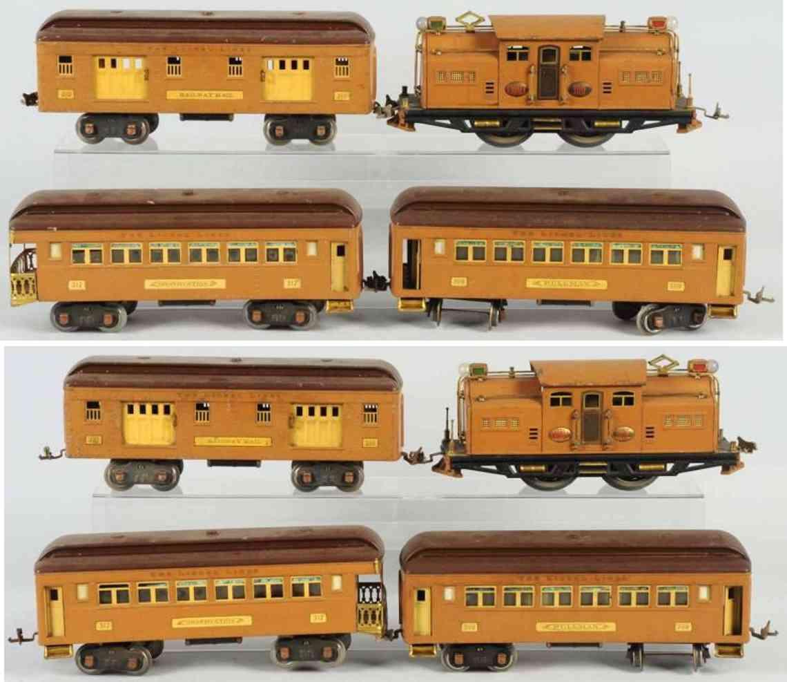 lionel 1318e 309 310 312 spielzeug eisenbahn personenzug standard gauge
