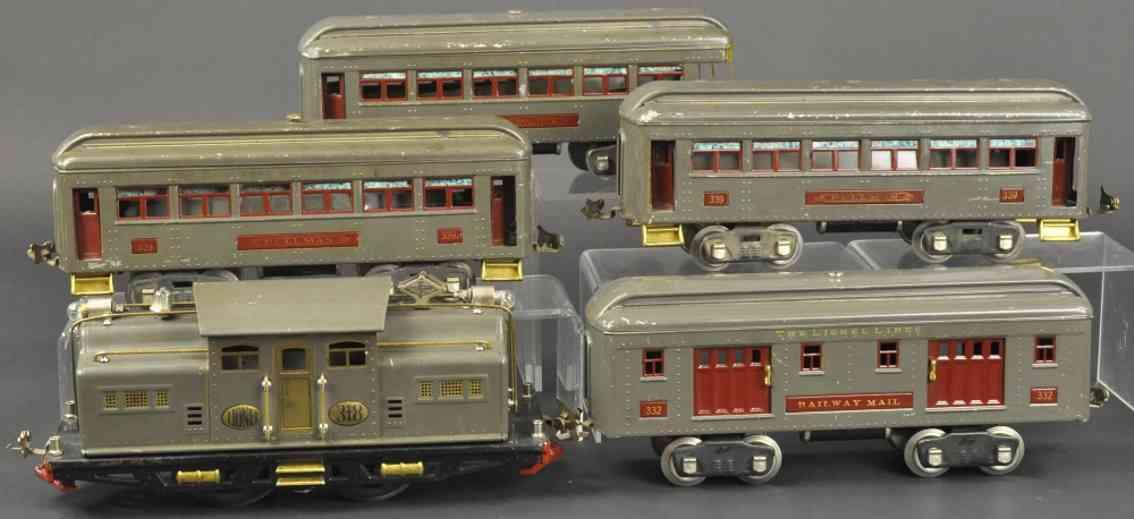 lionel 318E 312 332 339 spielzeug eisenbahn personenzug standard gauge