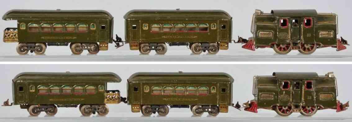 lionel 33 e personenzug schlafwagen 35 aussichtswagen 36 standard gauge
