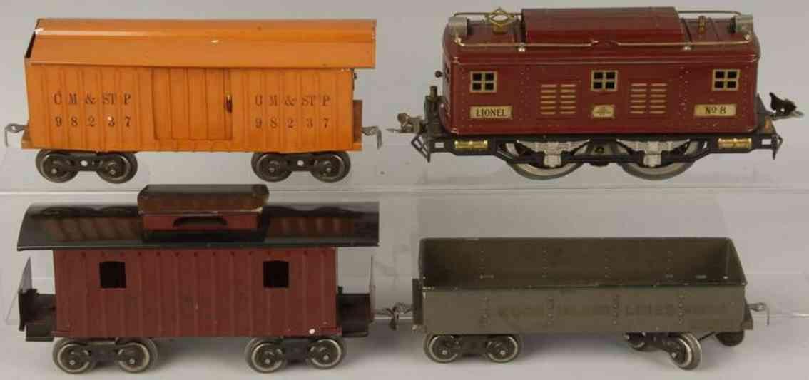 Lionel 351 Güterzug Standard Gauge 8 112 114 117
