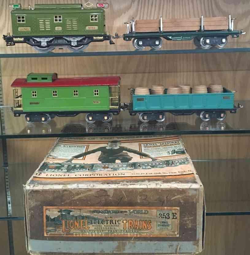 lionel eisenbahn zug set 353e lok 83 gueterwagen 512 caboos 517 standard gauge