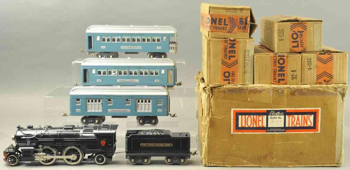 lionel 366w 1835e 309 310 zug damptlokomotive tender blau silber standard gauge