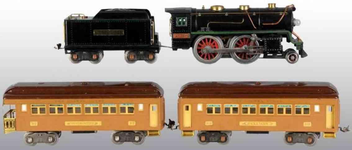 lionel 362e spielzeug eisenbahn zug persnonenzug 384t 309 312 standard gauge