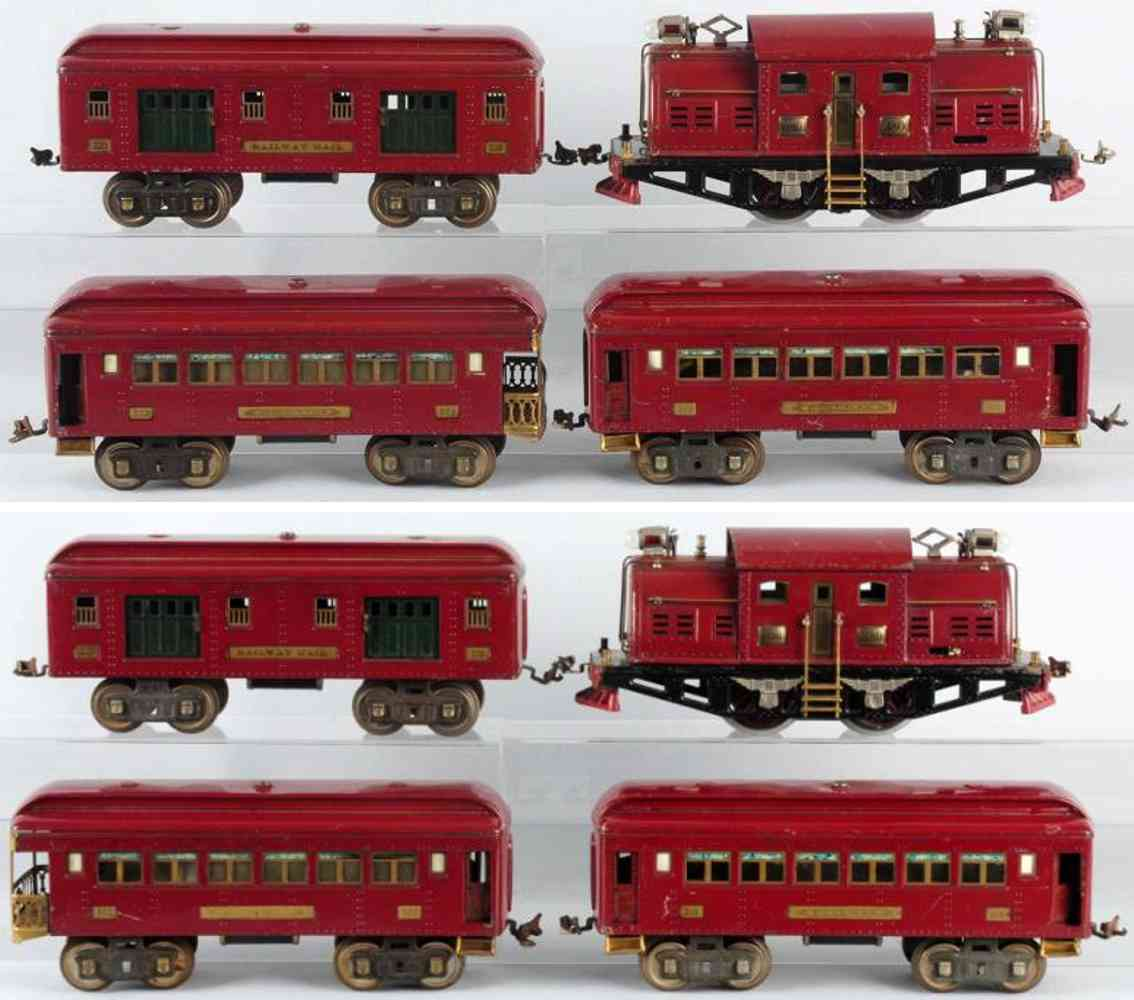 lionel 380 319 320 322 personenzug kastanienbraun standard gauge