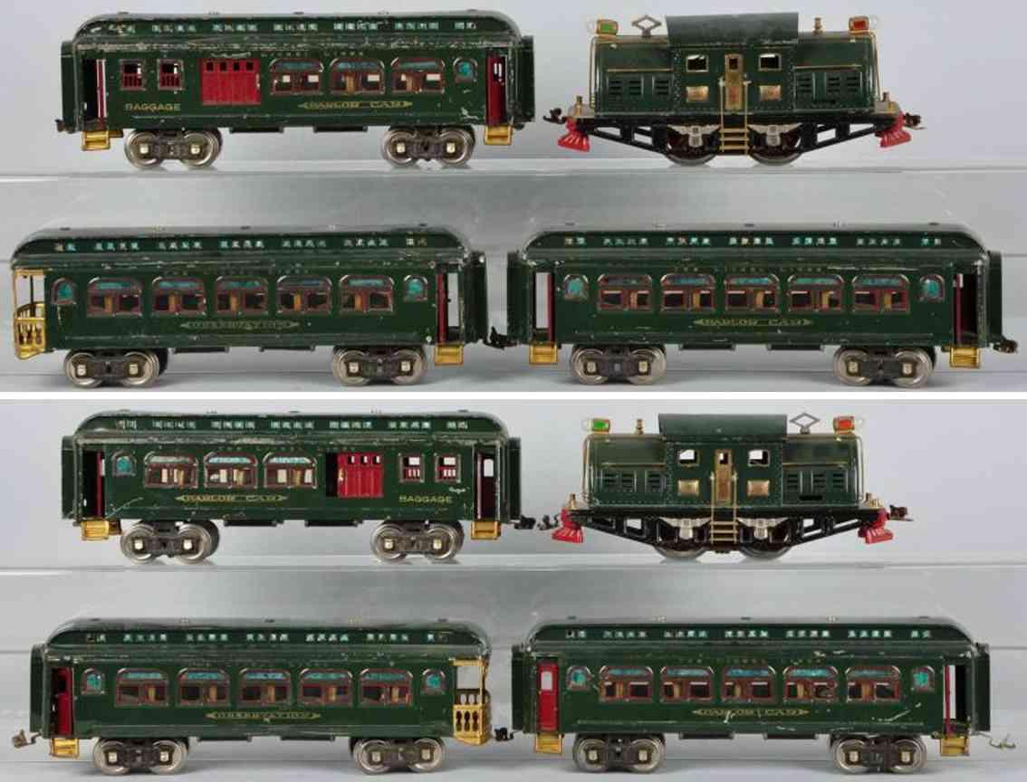 Lionel Personenzug Lokomotive 380 Personenwagen 428 429 430 Standard Gauge