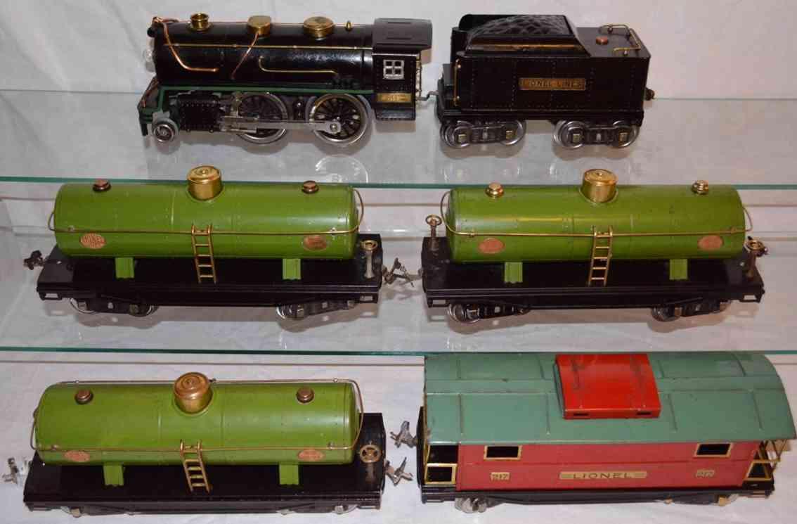 lionel spielzeug eisenbahn guterzug dampflokomotive 384 kesselwagaen 217 caboose 217