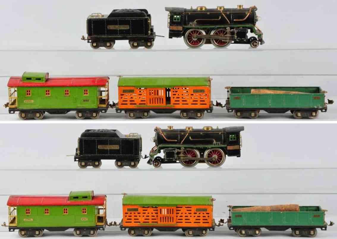 Lionel Güterzug  Lokomotive 384E Wagem 512 Caboose 517 Viehwagen 513 Standard Gauge