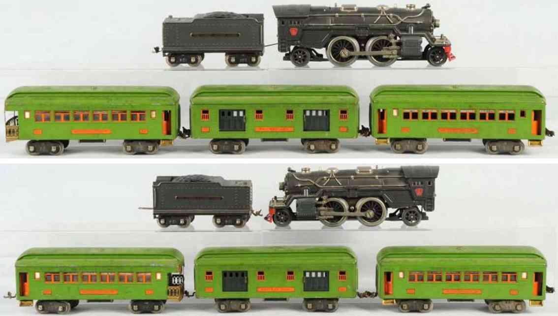 lionel 385 eisenbahn prsonenzug 385e 385w 309 310 312 standard gauge