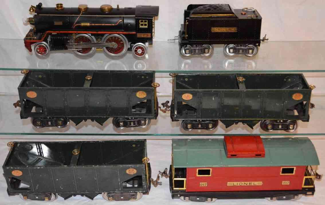 Lionel Kohlenzug Dampflokomotive 2930 Schüttgutwagen 216 Caboose 217