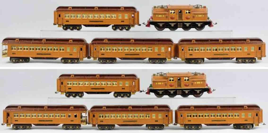 Lionel Staatswagenzug Lokmotive 408E Personenwagen 412 413 414 416 Standard Gauge