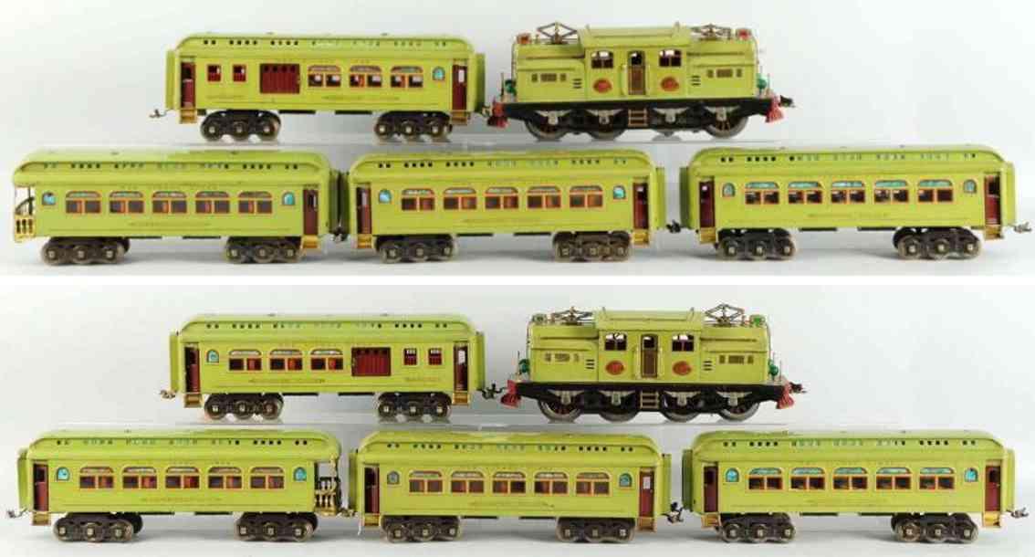 lionel 408e 418 419 431 490 g personzug apfelgruen standard gauge