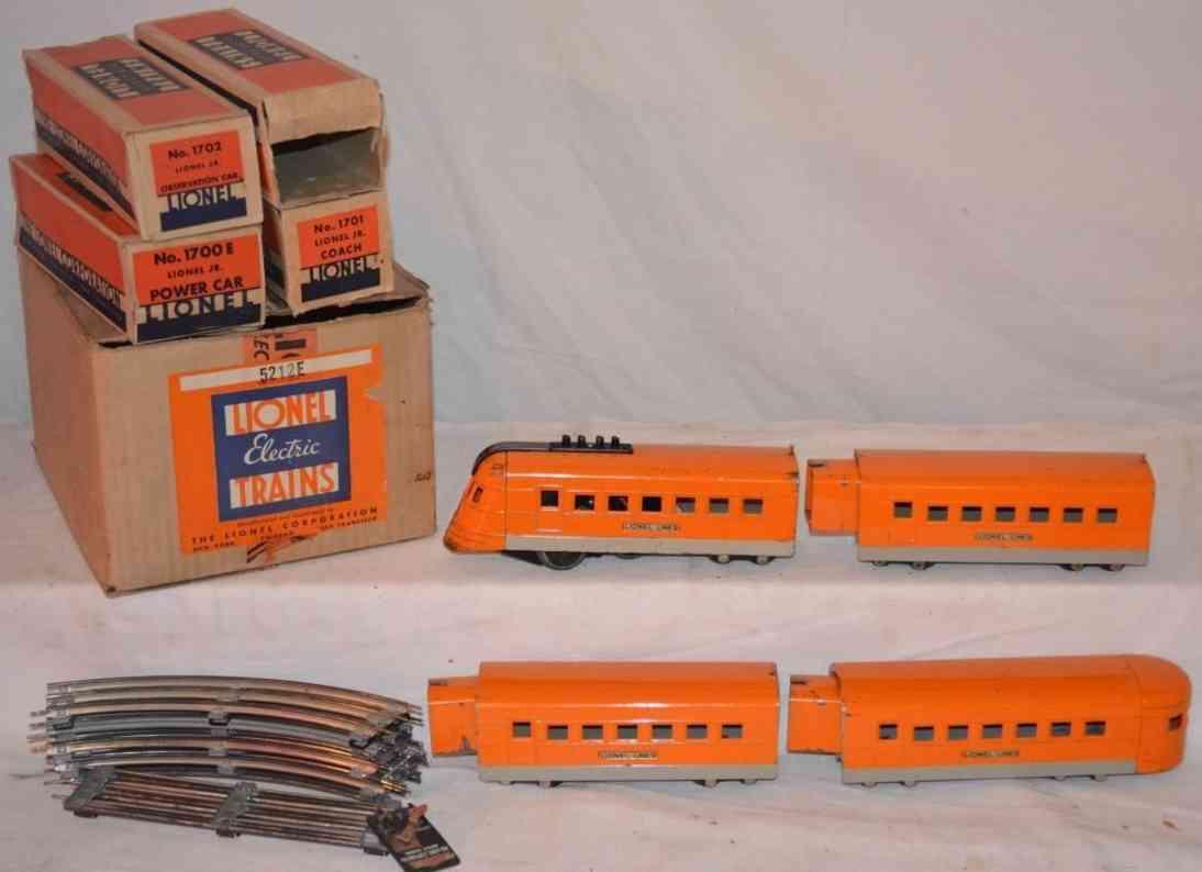 lionel zug 5212e hiawatha lok 1700 wagen 1701 1702 standard gauge