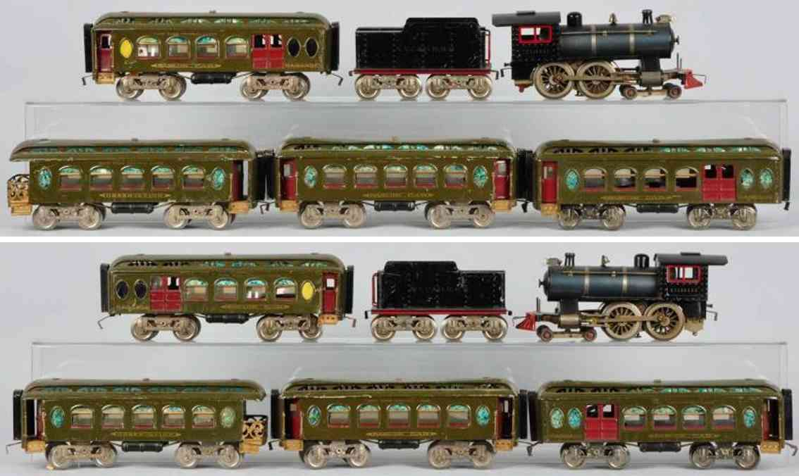 Lionel Passenger train set locomotive 6 passenger cars 18 19 190 Standard Gauge