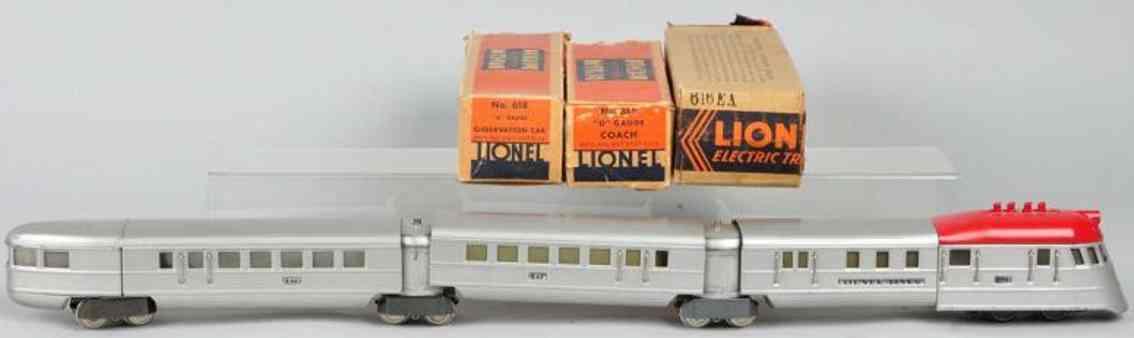 Lionel 616 617 618 Flying Yankee train set