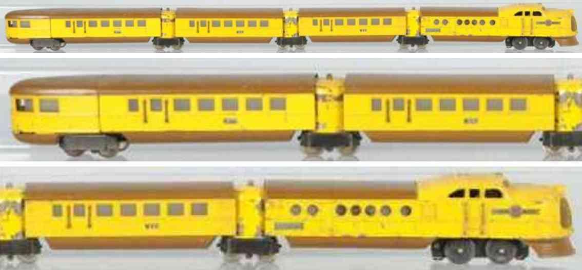 lionel 636 637 638 toy union pacific passenger train set city of denver gauge 0