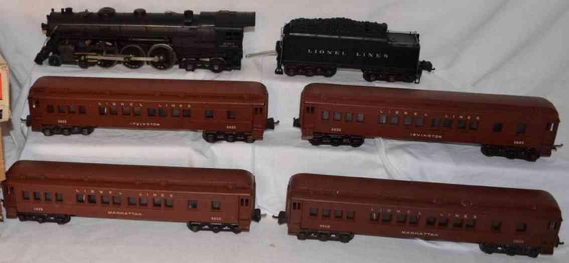 Lionel 748W Rail train set  locomotive 763E tender 2226WX Manhatten Irvington 2623