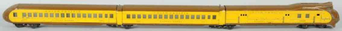 lionel 752E 753 754 union pacific passenger train set gauge 0