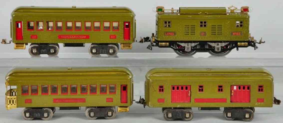 Lionel 8 332 337 338 Passenger train set